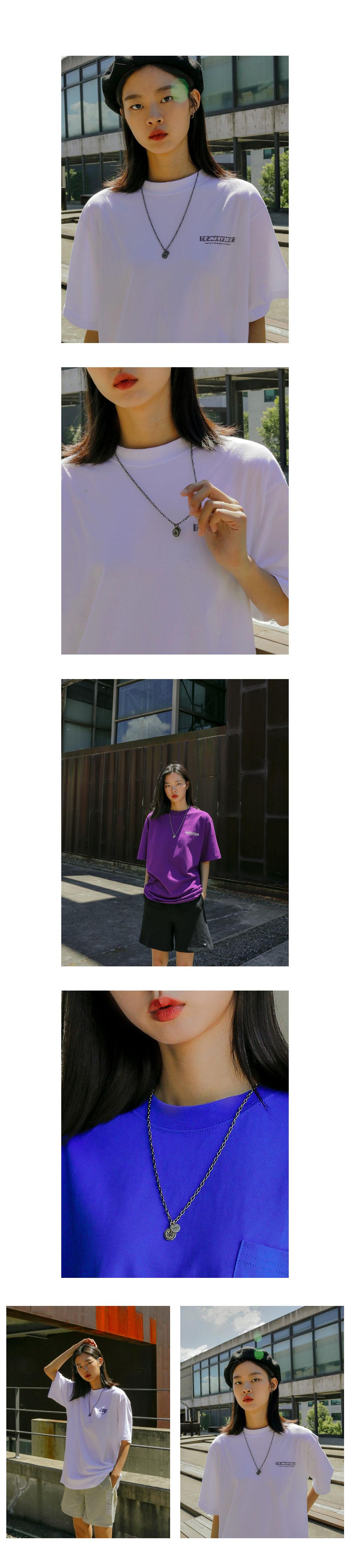 뎃츠잇 (UNISEX) 피더파트 석버니쉬 목걸이